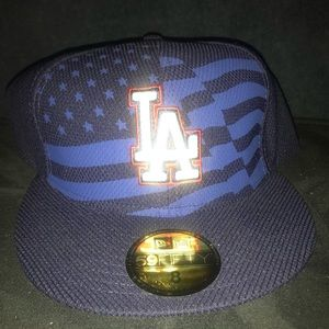 American Flag Dodger Hat - Fitted